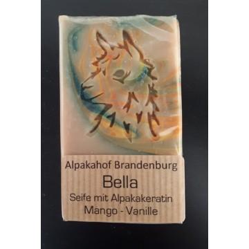 "Alpaka-Keratin-Seife ""Bella"" Mango-Vanille"