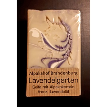 "Alpaka-Keratin-Seife ""Lavendelgarten"" - Lavendel"
