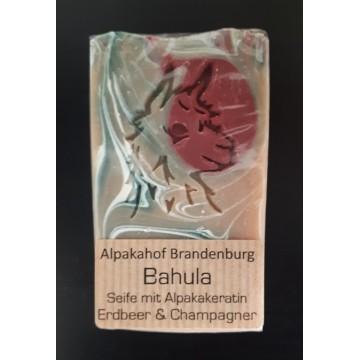 "Alpaka-Keratin-Seife ""Bahula"" Erdbeere-Champagner"